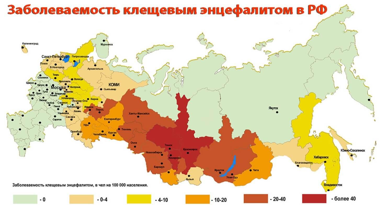 Опасности для туристов - клещевой энцефалит в России