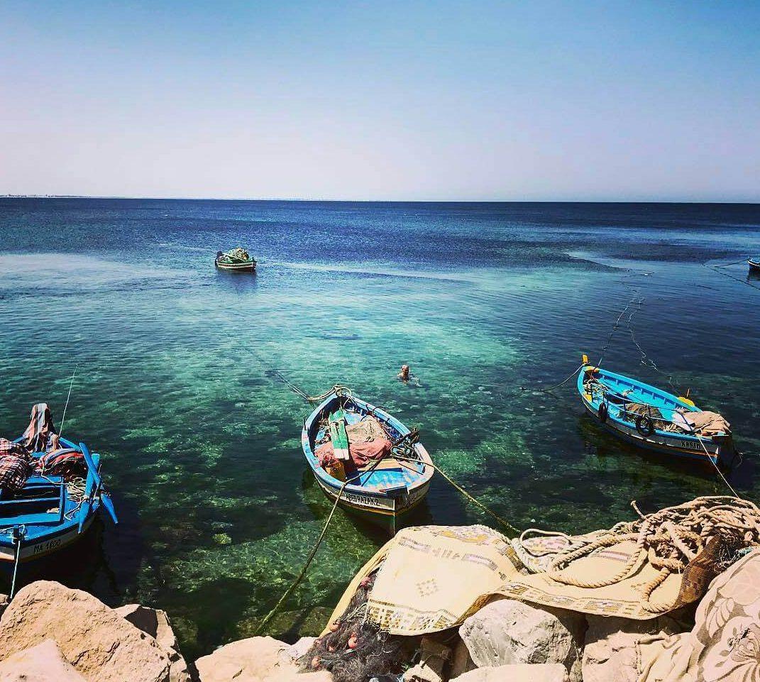 Достопримечательности Туниса курорт Махдия - порт
