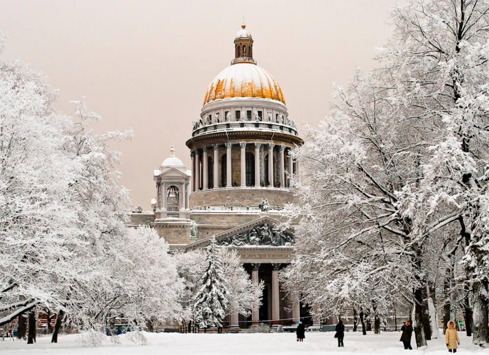 Поездка в Питер зимой