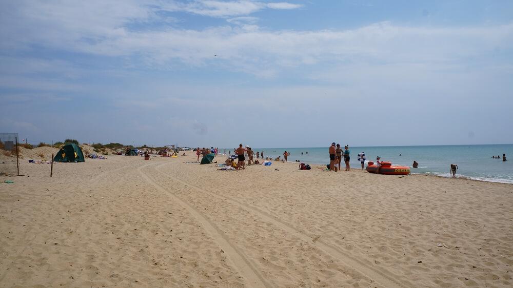 Отдых в Веселовке - центральный пляж