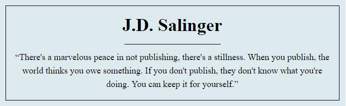 J.D. Salinger цитата