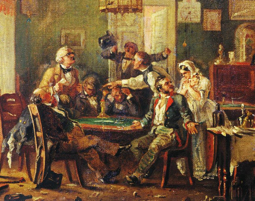 интересные факты из жизни фета - игра в карты и дружба с Толстым