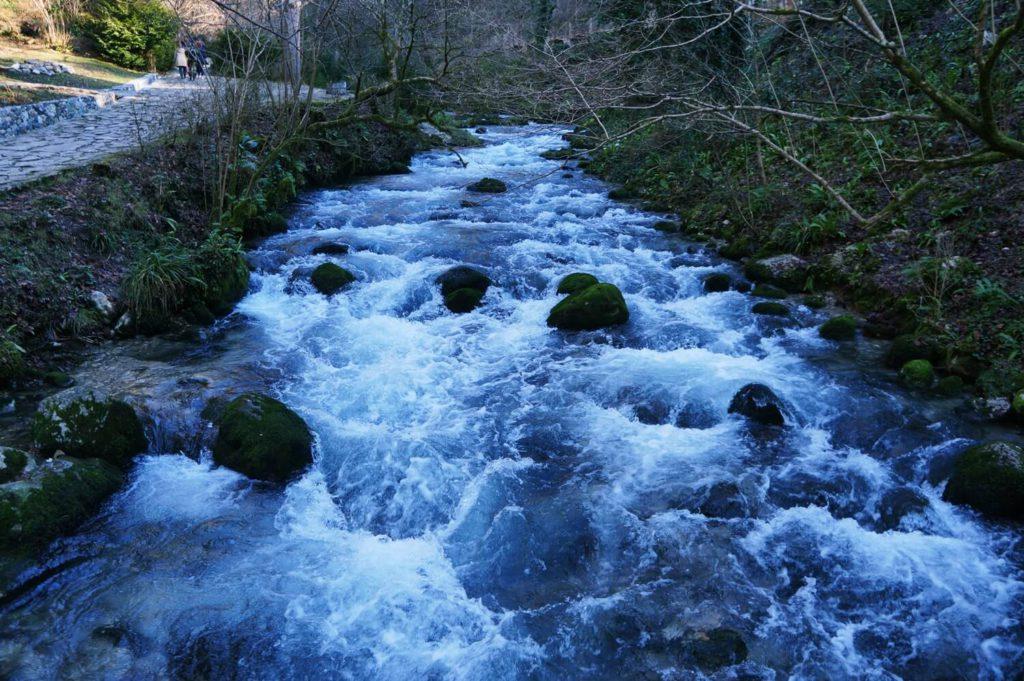 Бурная река Псырцха в Абхазии