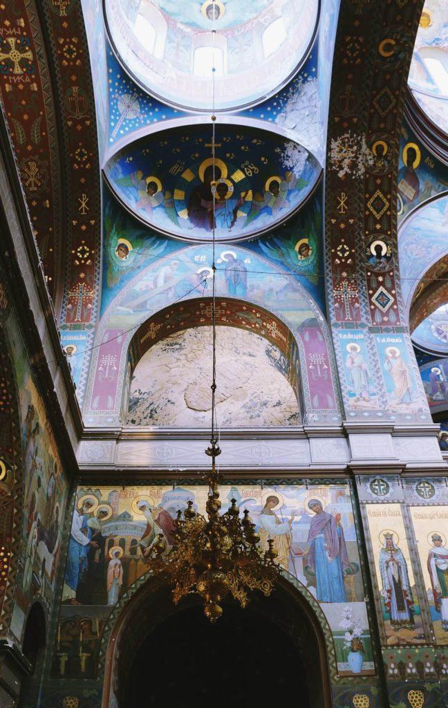 Монументальная иконопись на стенах Новоафонского монастыря