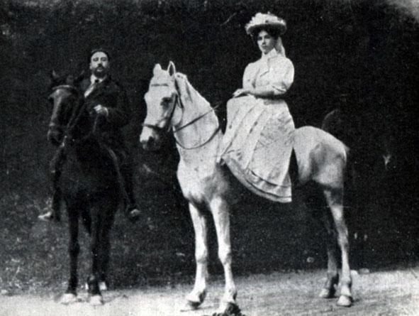 Куприн со второй женой С Елизаветой